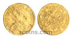 """1 червонец 1712 года 1 червонец 1712 года  Материал чеканки монеты: Золото(Au) Вес монеты: 3,48 г Гурт: гладкий Разновидность: Cо знаком гравера """"G"""", голова средняя разделяет надпись. Редкость по каталогу Биткина: (R2) Состояние данного экземпляра: VF(VeryFine)-XF(ExtraFine) Стоимость монеты 1 червонец 1712 года:   108500 USD Стоимость монеты по металлу составляет 10106 р по ценам на 26.01.2016"""