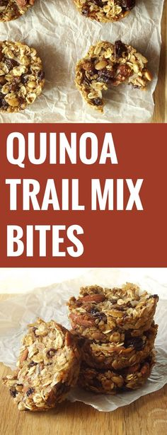 Trail Mix Quinoa Bites