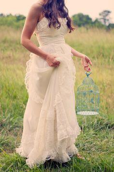 ethereal, vintage bride, vintage wedding photography #birdcage