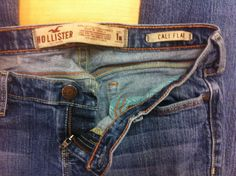 HOLLISTER CALI FLARE STRETCH LOWRISE WOMENS JEANS SIZE 1R EUC #Hollister #Flare