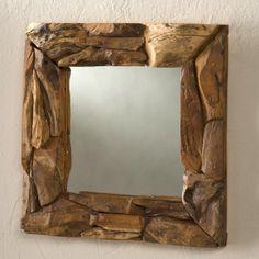 Teak Driftwood Mirror