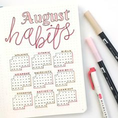 Time to start a new monthly habit tracker! 🙌🙌 I'm determined to actually finish this one! 🙈 Still crushing on the colour scheme this month,…
