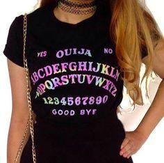 Ouija Board Crop Top 2.0 // Pastel Goth Grunge by CelestialCult
