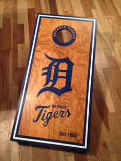 Detroit Tigers English D Custom Made by GreatLakesCornhole on Etsy, $189.00