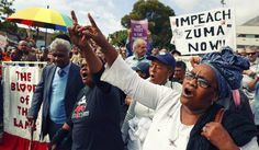 Photo: Thousands of South Africans take to the streets of Cape Town in protest against President Jacob Zuma, calling for his resignation on the Freedom Day public holiday in Cape Town, South Africa 27 April 2016. EPA/NIC BOTHMA