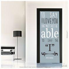 To Say I Love Door Mural
