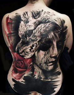 Abstract Horror Tattoo by Timur Lysenko | Tattoo No. 12713