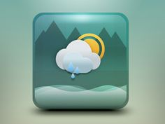 Weather App Icon Concept Updated by Aaron Sampson