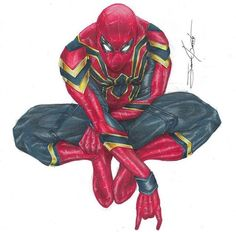 Spider-Man........ Amazing Spiderman, Art Spiderman, Marvel Art, Marvel Heroes, Marvel Avengers, Spider Man Quotes, Lego Dc Comics, Spectacular Spider Man, Iron Spider