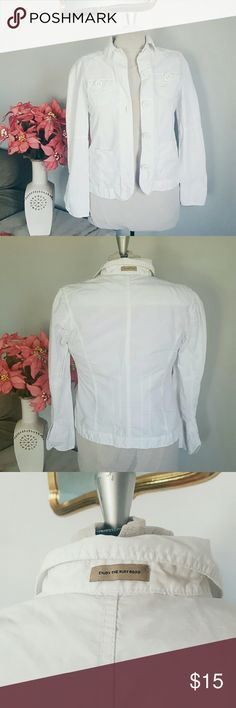 """White Lightweight Jacket Brand 