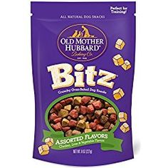 Old Mother Hubbard Bitz Natural Crunchy Dog Training Treats, Chicken, Liver & Veggies, Bag -- To check this awesome product by going to the link at the image. (This is an affiliate link and I receive a commission for the sales) Old Mother Hubbard, Dog Training Treats, Natural Dog Treats, Chicken Livers, Dog Biscuits, Dog Snacks, Oven Baked, Natural Flavors, Dog Food Recipes