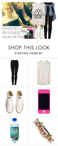 """""""Knowing fans at Ellie Goulding's concert with Niall"""" by ninnha ❤ liked on Polyvore featuring River Island, Topshop, 3.1 Phillip Lim, Converse, Dorothy Perkins, NARS Cosmetics, NiallHoran, boyfriend and EllieGoulding"""