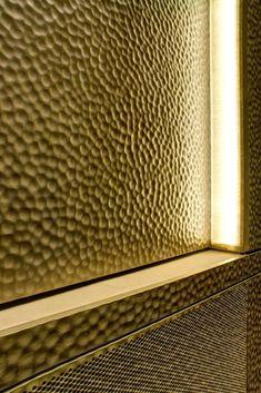 Muro de bronce imagen motivo club de jazz pared decoración música