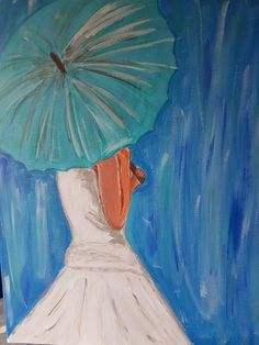 Another umbrella picture, ready for your painting pleasure. Umbrella Painting, Umbrella Art, Painted Earth, Watercolor Artwork, Art Challenge, Acrylic Art, Diy Painting, Painting Inspiration, Art Images