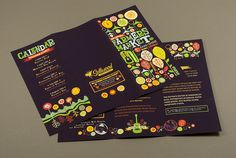 Love the colors. I'd love to visit a farmer's market with such a fun, lively brochure.