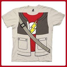 Big Bang Theory Sheldon Trompe-l'oeil Cobblestone Tee (Medium) - Cool and funny shirts (*Amazon Partner-Link)