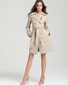 Juicy Couture Cotton Twill Trench Coat