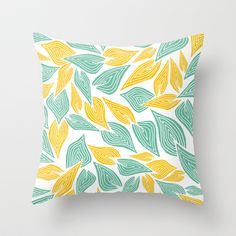 Autumn Day Throw Pillow by Pom Graphic Design  - $20.00 #leafs #autumn #summer #nature #pillow #decor #throwpillow #home