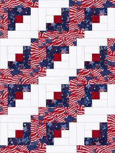 Americana Liberty Pre-Cut Fabric Quilt Kit Blocks