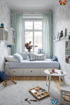 5 smart ideas for your small children's room - Lunamag.com #kidsroom small kids room ideas Small Apartment Bedrooms, Small Room Bedroom, Trendy Bedroom, Small Rooms, Modern Bedroom, Kids Bedroom, Small Spaces, Room Kids, Master Bedroom