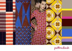 """""""Optical Day""""-Bauhaus Expression / 1920′s 1960′s 1970′s Mixed / Omega Workshop References / Bloomsbury Style / Wallpaper Looks / Optical Mixes / Tie-style Foulards / Paisley Motifs / Grid-like Patterns / Chevron and Striped"""