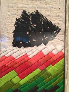 "Kathryn Hunter, ""Stormy,"" 2013, paper cut, wool, silk"