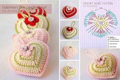 mis pasatiempos amo el crochet¡¡¡¡:): Exquisitamente maravillosos corazones con relleno
