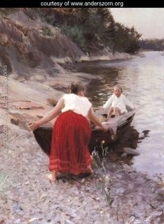 Woman in Red Skirt - Anders Zorn - www.anderszorn.org
