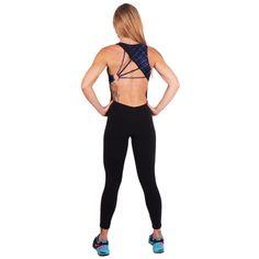 Macacão Deep Blues - moda academia fitness shoptodaemforma