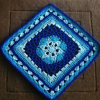 Impossible Hexagon 12 inch Afghan Granny Square by Stramenda