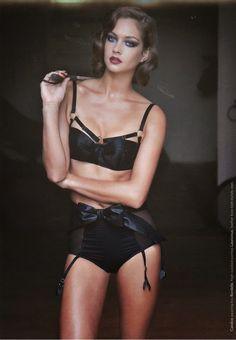 Sexy black bandage lingerie