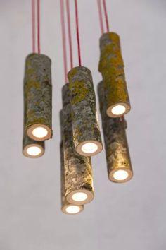 Сохранившие дух леса светильники из веток от Jay Watson