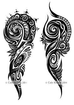 Tribal Swirls by TrollGirl on DeviantArt – Tattoo Pattern Tribal Tattoo Designs, Tribal Forearm Tattoos, Maori Tattoos, Tribal Shoulder Tattoos, Polynesian Tattoo Designs, Tribal Tattoos For Men, Tribal Sleeve Tattoos, Tattoo Sleeve Designs, Star Tattoos