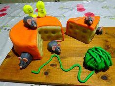 gâteau anniversaire 3D forme fromage et souris