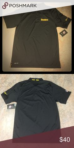 f149b720439 Pittsburgh Steelers Nike Dri Fit Polo Shirt Small Brand new with tags  officially licensed Pittsburgh Steelers Nike men s Dri Fit polo shirt size  small.