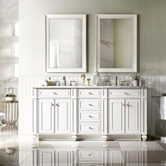 New modern Traditional. Cottage White, all Birch Hardwood, handcrafted, 3 or top, with tulip legs. Bathroom Vanity Cabinets, Bathroom Furniture, Bathroom Ideas, Bathroom Vanities, Modern Bathroom, Bathrooms, Shaker Style Cabinet Doors, Double Sink Bathroom, Master Bathroom