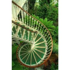Green Spiral ❤ liked on Polyvore featuring backgrounds, stairs, garden, pictures, photos and filler