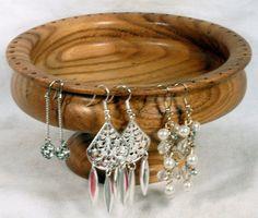 Handmade Mulberry Wooden Earring Bowl Holder. $26.00, via Etsy.