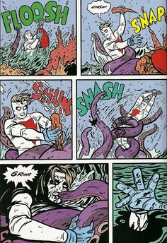 Friday Night Fights: The Old (Mad)Man and the Sea Comic Book Pages, Comic Books, Friday Night Fights, Mike Allred, Internet Time, Pop Art, Comic Panels, Mad Men, Comic Art