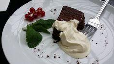 Chocolate and Lavender Tart @ The Gate Best Vegetarian Restaurants, Tart, Lavender, Pudding, London, Chocolate, Desserts, Food, Flan
