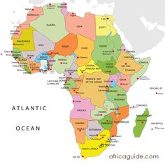 Clickable image map of Africa. View where countries are located and click on them to take you to a wealth of information.