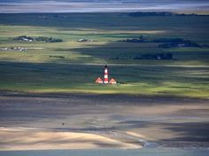 Lighthouse at Westerheversand, Germany North Sea
