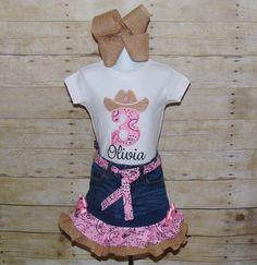 Paisley denim burlap birthday set. Cowgirl birthday by MommaMays