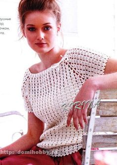 easy crochet top with free pattern
