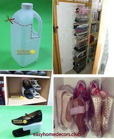 kronleuchter kronleuchter in 2019 Shoe Organiser, Shoe Rack Organization, Home Organization Hacks, Shoe Storage, Diy Para A Casa, Diy Casa, Easy Home Decor, Diy Home Crafts, Reuse Plastic Bottles