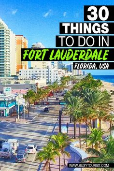 Traveling to Fort Lauderdale, FL but not sure what to do there? This travel guide will show you the top attractions, best activities, places to visit & fun things to do in Fort Lauderdale. Start planning your itinerary & bucket list now! #fortlauderdale #fortlauderdalebeach #florida #floridavacation #floridatravel #floridatrip #usatravel #usatrip #usaroadtrip #travelusa #ustravel #ustraveldestinations #americatravel #travelamerica #vacationusa Visit Florida, Florida Vacation, Florida Travel, Hawaii Travel, Usa Travel Guide, Best Travel Guides, Travel Usa, Fort Lauderdale Attractions, Fort Lauderdale Beach