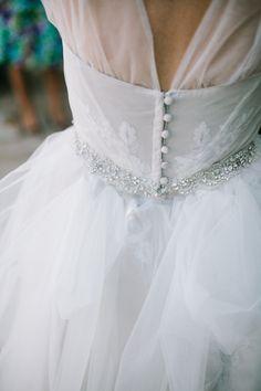 wedding tulle and lace, photo by Joe+Kathrina http://ruffledblog.com/whimsical-san-juan-capistrano-wedding #weddingdress #weddinggown #bride