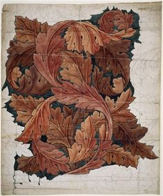 Wallpaper Design - Acanthus by William Morris, 1879 – 1881. See it in the Love is Enough exhibition.