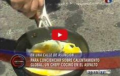 Este chef deja a todos estupefactos cuando se pone a cocinar en el asfalto - TVEstudio