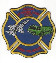 Indiana IN ANG 122FW Fort Wayne Municipal Airport Fire Crash Rescue patch - NEW!